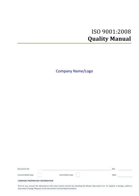 Iso 9001 2008 Quality Manual Giza Systems @192.81.217.109